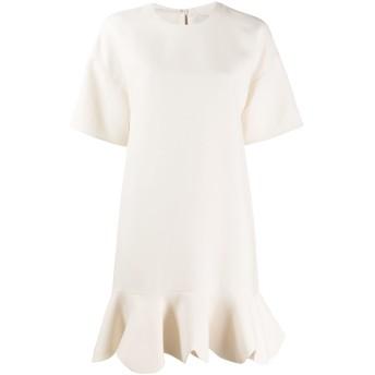 Valentino スカラップ ドレス - ニュートラル