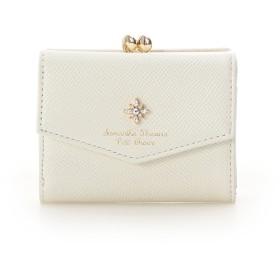サマンサタバサプチチョイス ストーンモチーフ 折財布 オフホワイト