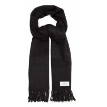 ジバンシー Givenchy メンズ マフラー・スカーフ・ストール Atelier label wool-blend scarf Black