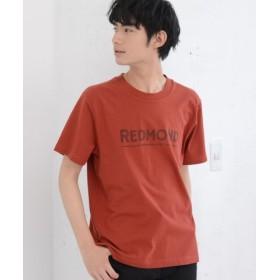 (coen/コーエン)【GO OUT7月号掲載】ロゴプリントTシャツ/メンズ BRICK