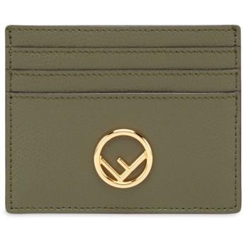 Fendi Fロゴ カードケース - グリーン
