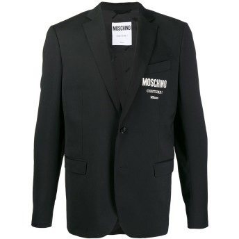Moschino ロゴプリント ジャケット - ブラック
