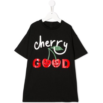 Stella McCartney Kids Cherry Good Tシャツワンピース - ブラック
