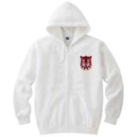 ウルフパーカー 赤(ホワイトボディ)(カラー : ホワイト, サイズ : XL)