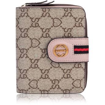 Leihou カードケース じゃばら 大容量 二つ折り 財布 軽量 PUレザー メンズ レディース (ピンク)