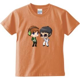 トムとマルク ver.1(キッズTシャツ)(カラー : アプリコット, サイズ : 140)