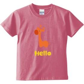 Hello Orange(キッズTシャツ)(カラー : ピンク, サイズ : 150)