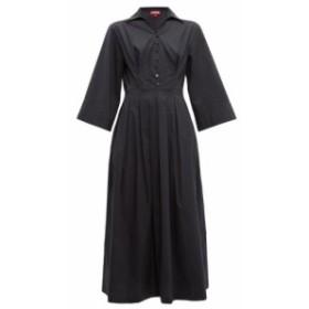 スタッド Staud レディース ワンピース ワンピース・ドレス Pleated-skirt cotton-blend poplin shirtdress Black