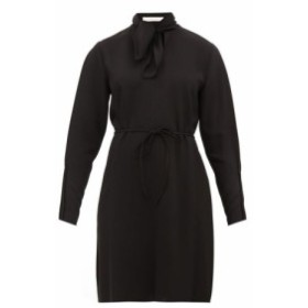 クロエ See By Chloe レディース ワンピース ワンピース・ドレス Tie-neck crepe dress Black