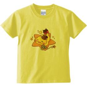つちのこキッズTシャツ(カラー : ライトイエロー, サイズ : 120)