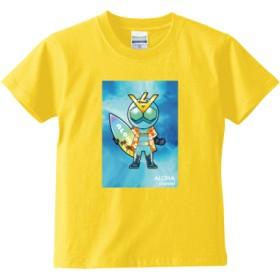 ALOHA channel アロハライダー Tシャツ<キッズ>(カラー : カナリアイエロー, サイズ : 150)