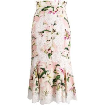 Dolce & Gabbana プリント ミディスカート - ピンク