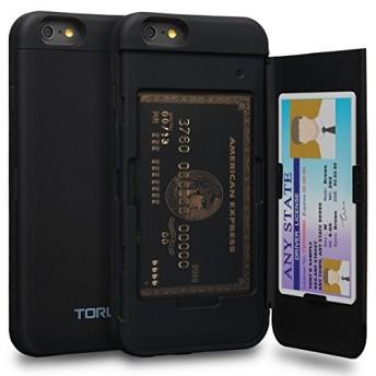TORU CX PRO iPhone6Sケース カード 収納背面 2枚 IC Suica カード入れ カバ― ミラー付き