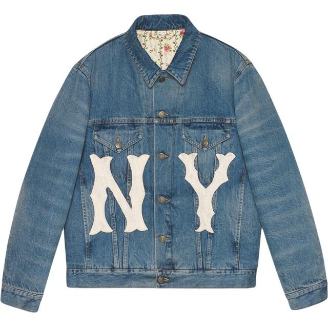 sale retailer 4e576 5e901 Gucci Yankees デニムジャケット - ブルー 通販 LINEポイント ...