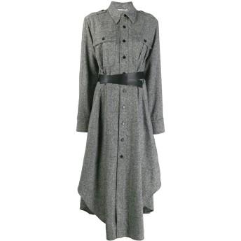 Stella McCartney ベルテッド シャツドレス - ブラック