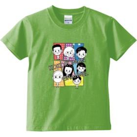 ココロマンコミック(キッズTシャツ)(カラー : ライムグリーン, サイズ : 130)