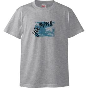 you & meTシャツ(デザインD)(カラー : アッシュ, サイズ : M)