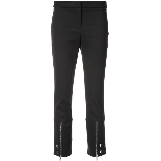 Alexander McQueen cropped zip trousers - ブラック