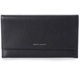レベッカミンコフ REBECCA MINKOFF OLIVIA キャビアレザー 財布クラッチ (ブラック)