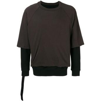 Unravel Project レイヤード スウェットシャツ - ブラウン