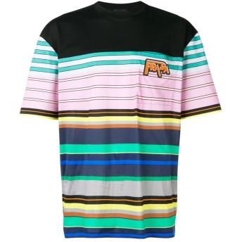 Prada ボーダー Tシャツ - ブラック