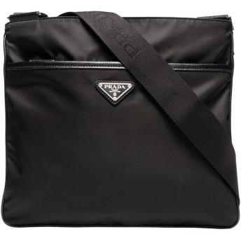 Prada ロゴ メッセンジャーバッグ - ブラック