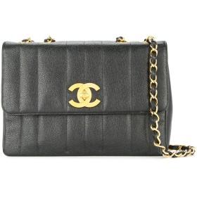 Chanel Pre-Owned マドモワゼル ジャンボ キャビアスキン ショルダーバッグ XL - ブラック