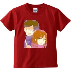 たまみーTシャツ 【子供用】(カラー : レッド, サイズ : 120)