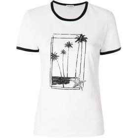 Saint Laurent プリント Tシャツ - ホワイト