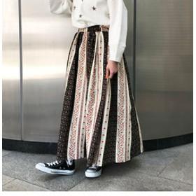 【J Lounge:スカート】エスニックストライプスカート