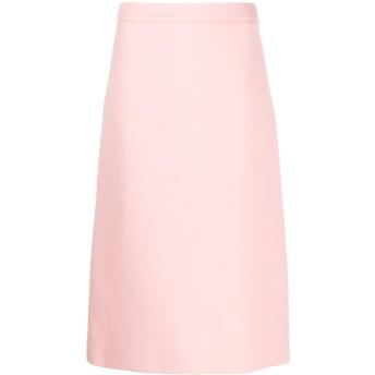 Prada Aライン ミディスカート - ピンク