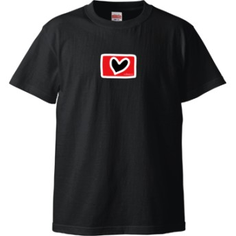 ハート Tシャツ(カラー : ブラック, サイズ : XL)