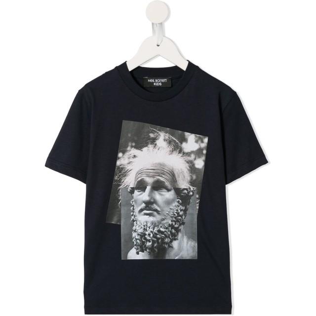 Neil Barrett Kids Einstein Marble Tシャツ - ブルー