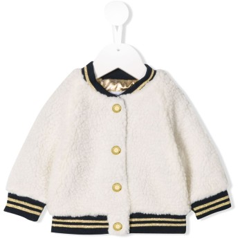 Little Marc Jacobs コントラスト ボンバージャケット - ホワイト