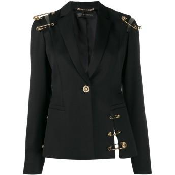 Versace セーフティピン ジャケット - ブラック