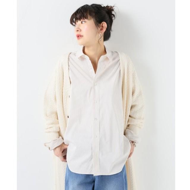 【ジャーナルスタンダード/JOURNAL STANDARD】 コットンナイロンストライプオーバーサイズドシャツ