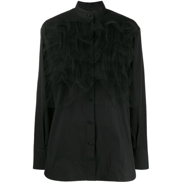 Valentino チュールレイヤー シャツ - ブラック