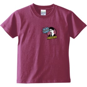 KATSUMATA MUSEUM(ピンクワンポイント) キッズTシャツ(カラー : ラベンダー, サイズ : 120)