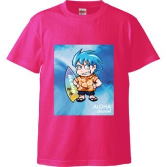 ALOHA channel ハロア(ライダー変身前) Tシャツ(カラー : トロピカルピンク, サイズ : XL)