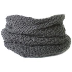 (カジュアルボックス) ネックウォーマー knit トルネード ターバン ヘアバンド ユニセックス フリーサイズ グレー