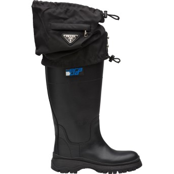 Prada ゲートル ブーツ - ブラック