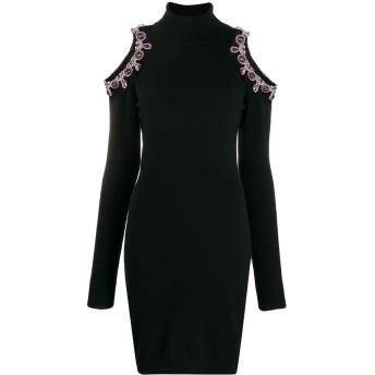 Moschino ビジュートリム ドレス - ブラック