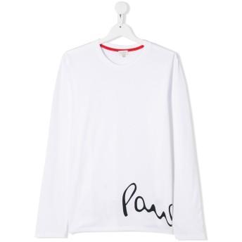 Paul Smith Junior ロゴ ロングTシャツ - ホワイト
