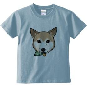 顔デカむぎTシャツ(カラー : ライトブルー, サイズ : 100)
