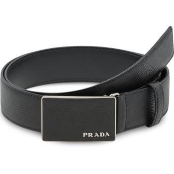 Prada レザー バックルベルト - ブラック