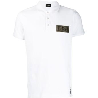 Fendi FF ロゴパッチ ポロシャツ - ホワイト