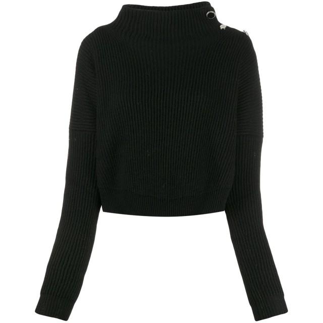 Liu Jo クロップドセーター - ブラック