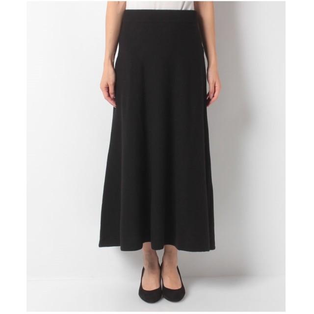 BENETTON (women) ウールミディニットスカート(ブラック)【返品不可商品】
