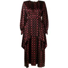 Fendi プリントレイヤードドレス - ブラック