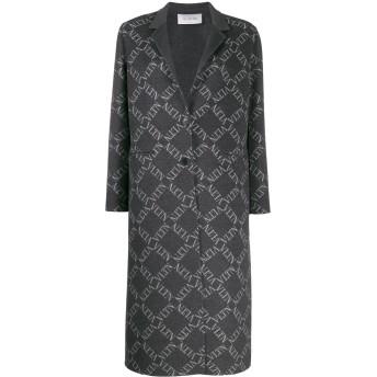 Valentino ロゴ シングルコート - グレー